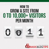 How to Grow A Site from 0 to 10,000+ Visitors Per Month In 2017