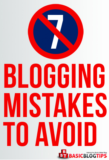 7 top blogging mistakes to avoid