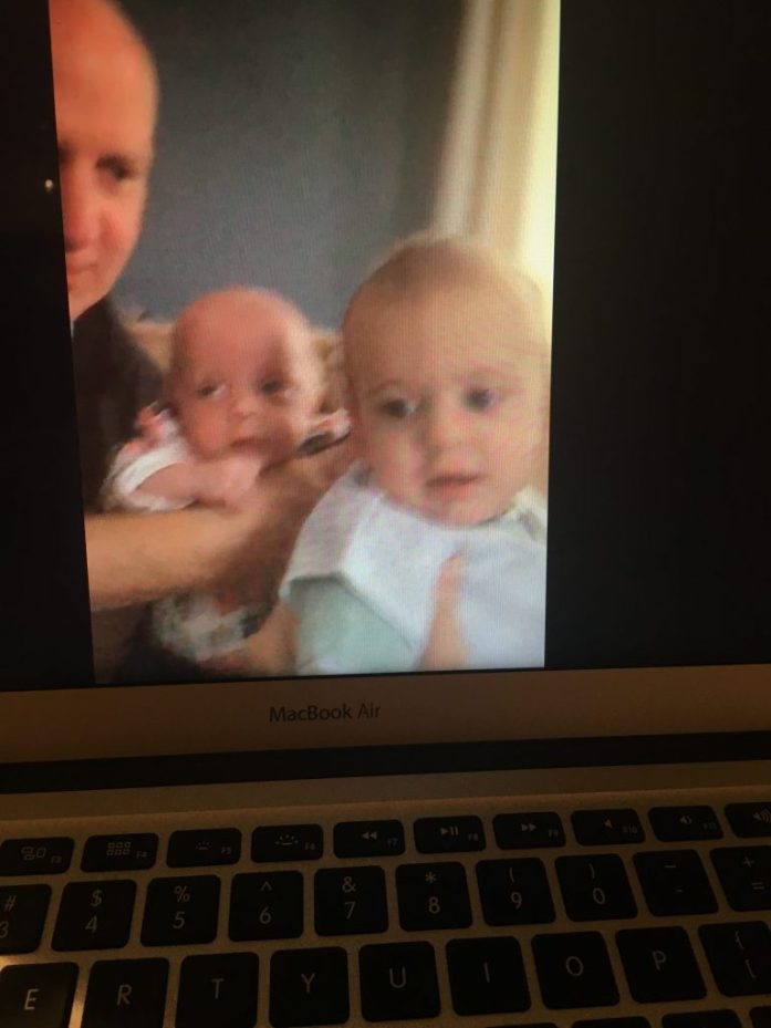 Babies on FaceTime