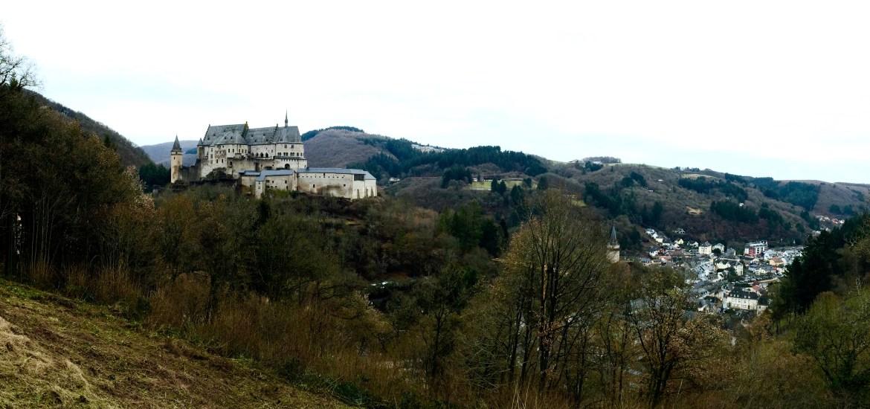 Vianden Castle in Vianden, Luxembourg