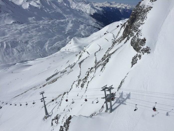 View from Vallugabahn