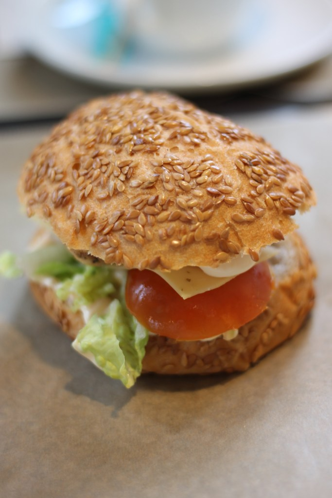 Gluten-free bagel at Lou Creative Food, Reims, France