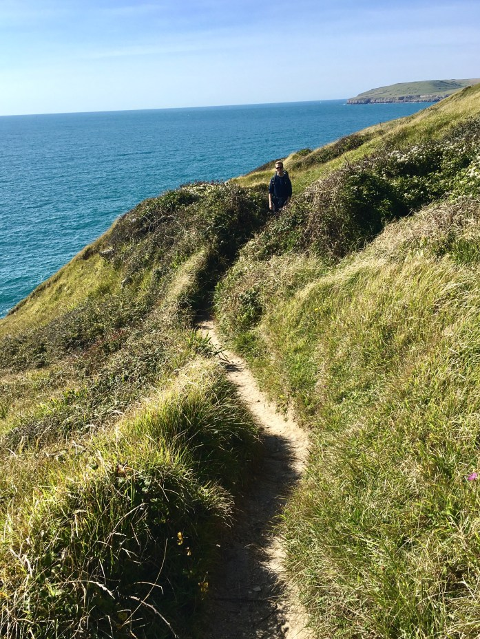 Andrew hiking the South West Coast Path