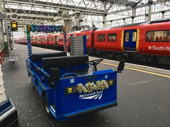 NetworkRail cart ready for Christmas