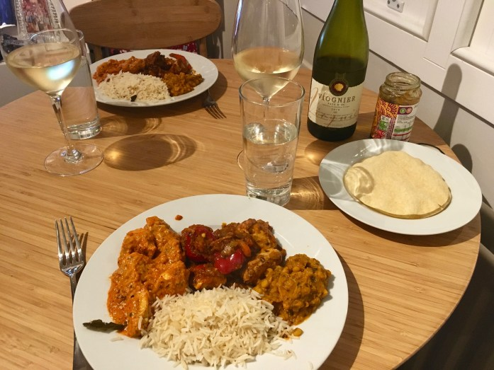 Indian feast + Viognier