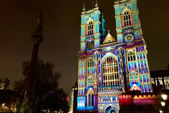 Westminster during Lumiere London 2018