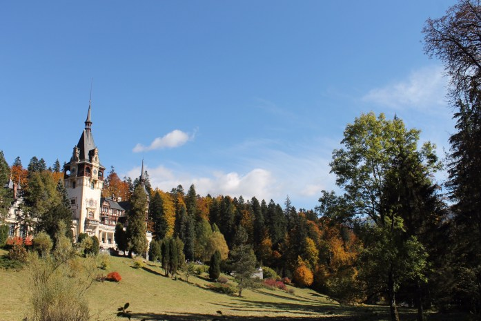 Foliage and Peles Castle, Romania