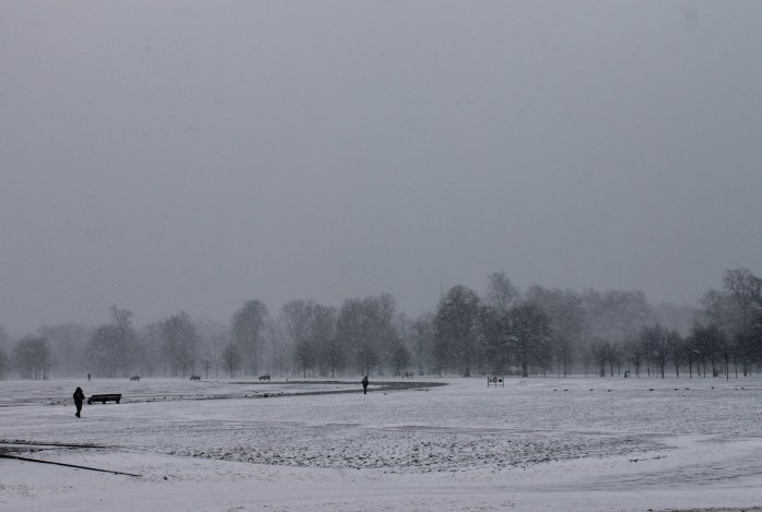 Hyde Park London in the Snow