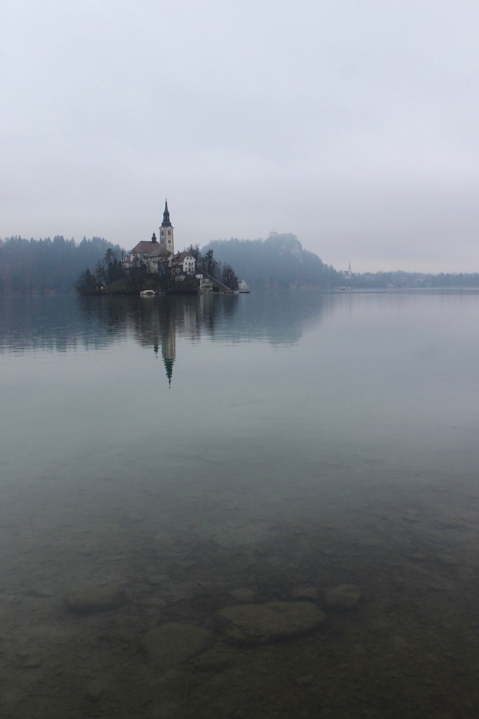 Lake Bled in the Rain