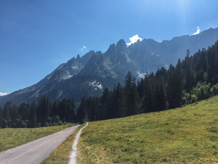 Look back at Engelhorner from Via Alpina Stage 10