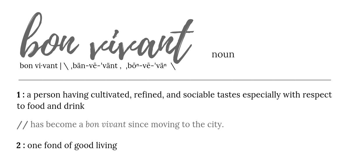 bon vivant definition