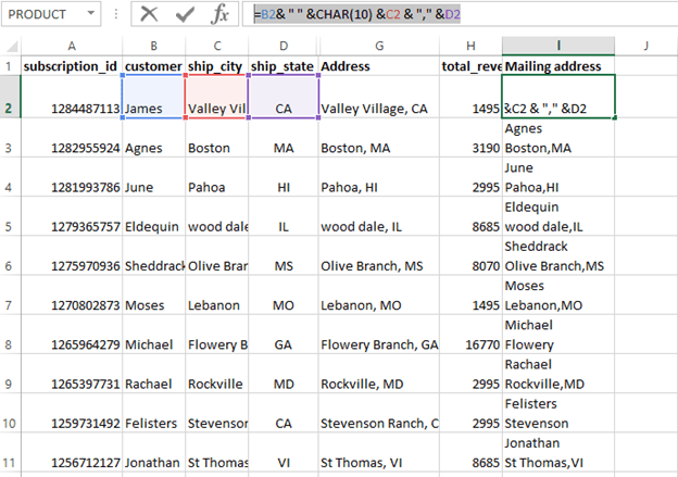 Pivot Table screenshot