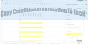 How to copy conditional formatting in Excel