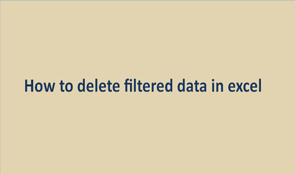 Read more about the article How to delete filtered data in excel