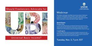 Arts Freelancer's Basic Income webinar