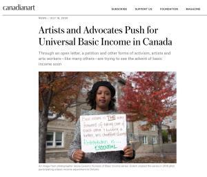 Canadian Art article