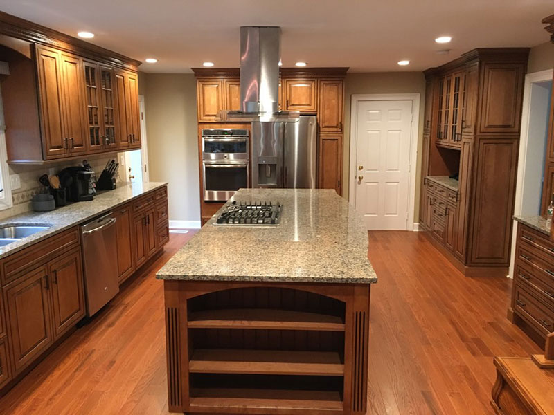remodeled kitchen wholesale sinks the basic co professionally kitchens remodeling project princeton new jersey october 2017