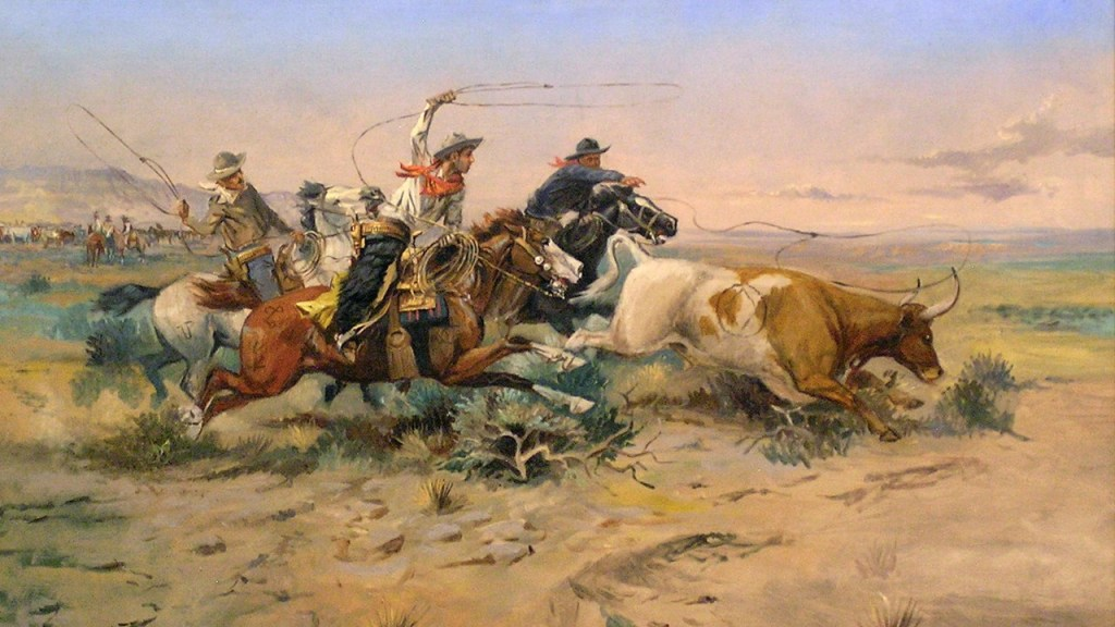 CM Russell's painting of cowboys