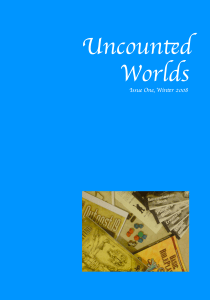 Uncounted Worlds Issue 1