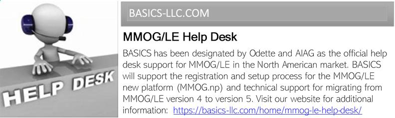 MMOG/LE Help Desk