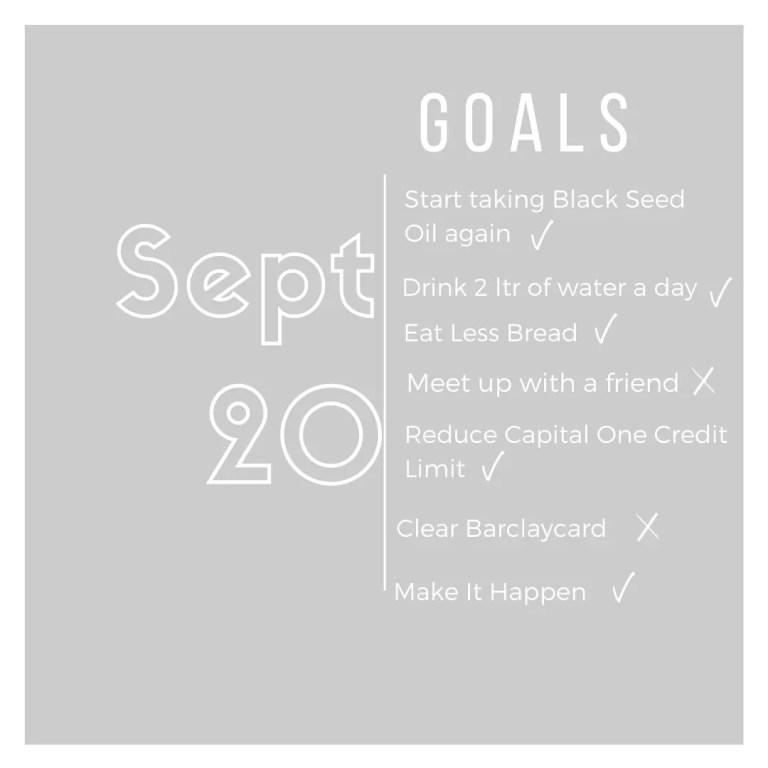 Basic with life September life goals