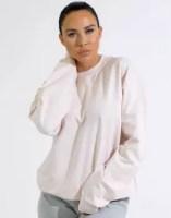 Femme Luxe Light Pink Oversized Long Sleeve Sweatshirt - Antonella