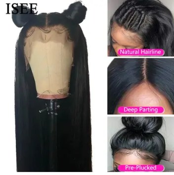ISEE HAIR Straight Lace Front Human Hair Wigs For Women 13X4 Lace Frontal Wig Malaysian Straight Lace Closure Wig 4X4 Lace Wig AliExpress
