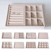 Jewellery Store Display tray stand pink Portable Jewellery Storage Box Case Ring Earring Organizer Necklace Tray AliExpress