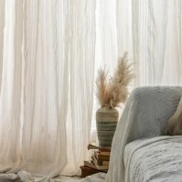 contracted cotton linen stripe curtain