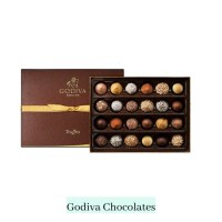 box of chocolates in brown and gold box
