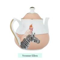 Cockatoo & Zebra Teapot