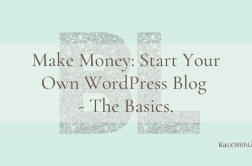 make money: start your own wordpress blog
