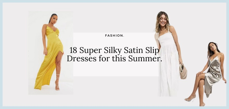 image of 3 women wearing summer slip dresses