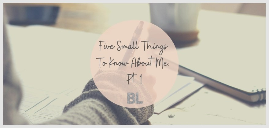 5 small things to know about me pt 1