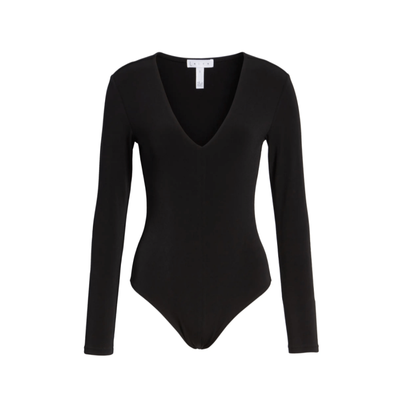 Leith long sleeve v neck bodysuit, matches everything and perfect for every ocassion.
