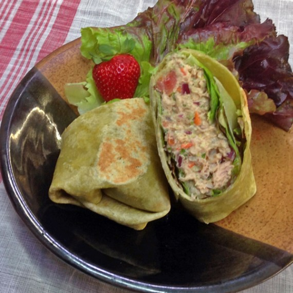 Tuna wrap, Basil Bandwagon Cafe