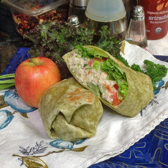 Chicken salad wrap, Basil Bandwagon Farm to Market Cafe
