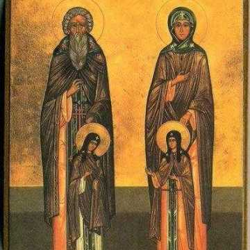 Venerable Saints Xenophon, Maria, Arcadius and John
