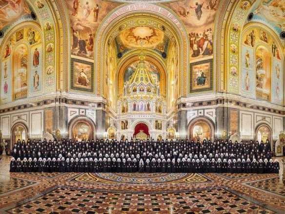 Soborul de Arhierei al Bisericii Ortodoxe Ruse în Catedrala Hristos Mântuitorul din Moscova