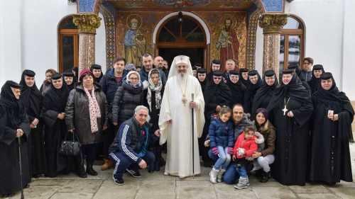 Patriarch Daniel at Țigănești Monastery
