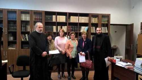 Donatie de carte - Biblioteca Arhiepiscopiei Craiovei