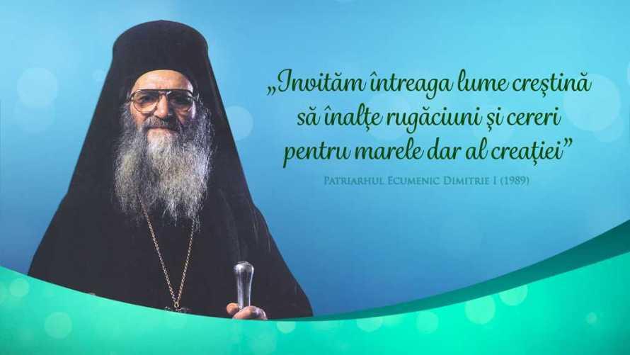 Patriarhul Ecumenic Dimitrie I Ziua de rugaciune pentru protectia mediului 1989