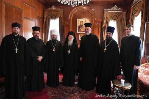 Patriarhul Ecumenic Bartolomeu Mitropolitul Ilarion de Volokolamsk