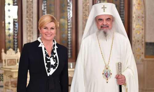 Patriarul României şi Preşedintele Croaţiei