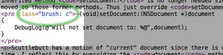 SyntaxHighlighting CSS Class