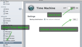 How to Create a Time Machine Backup to a Network Drive in