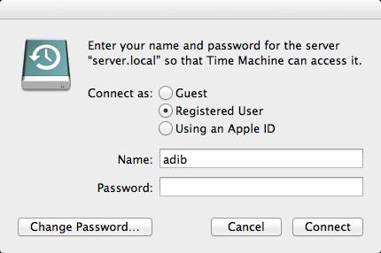 Server Password prompt