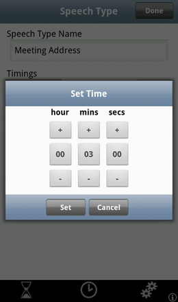 Speech Timing Setup
