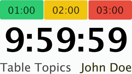 Speech Timer redesign Mac secondary window