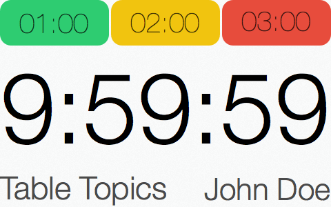 Speech Timer redesign iPhone 4 landscape